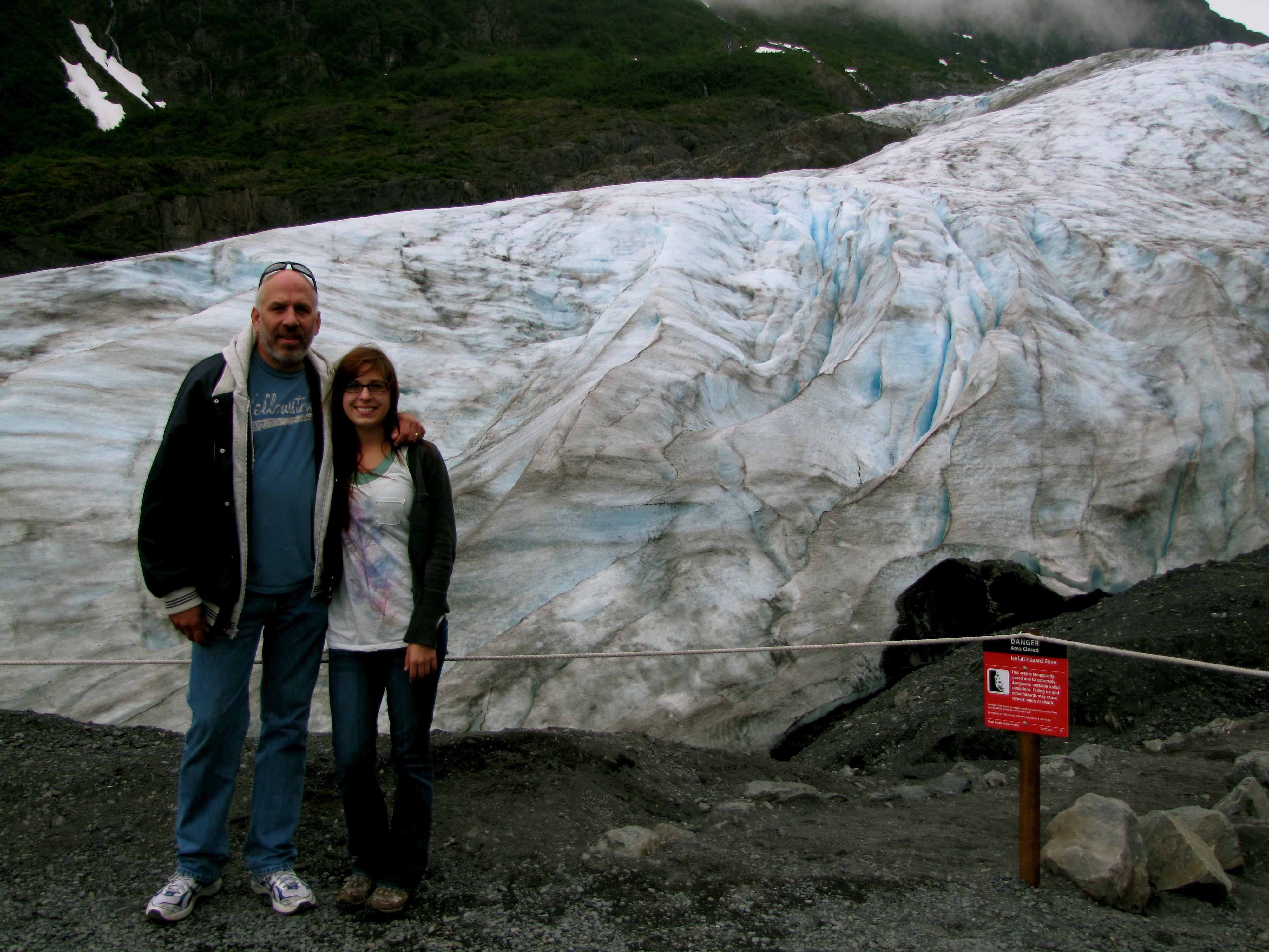 My Dad and me in front of Exit Glacier- Kenai Fjords