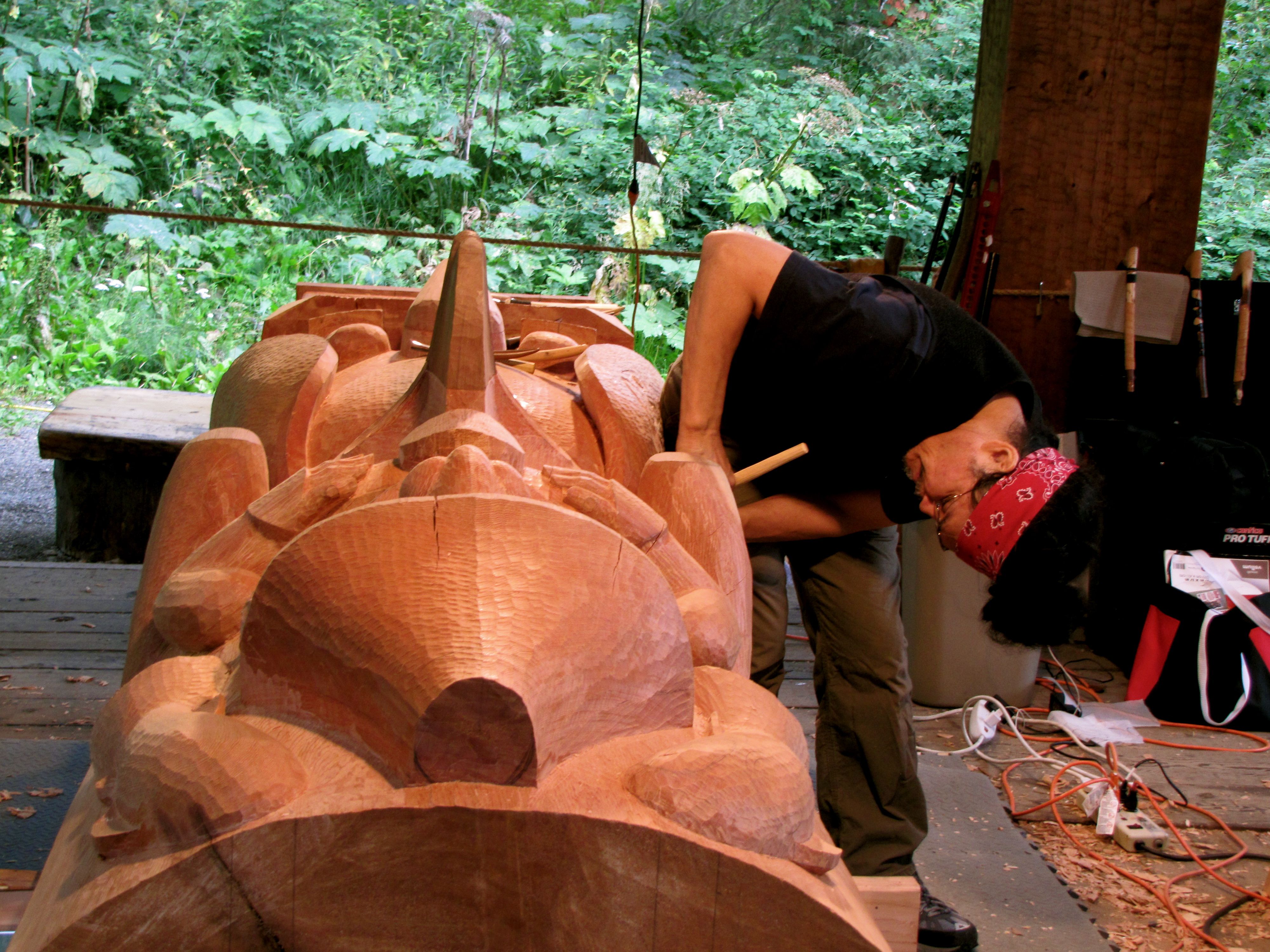 Traditional Carving at the Native American Heritage Center in Anchorage