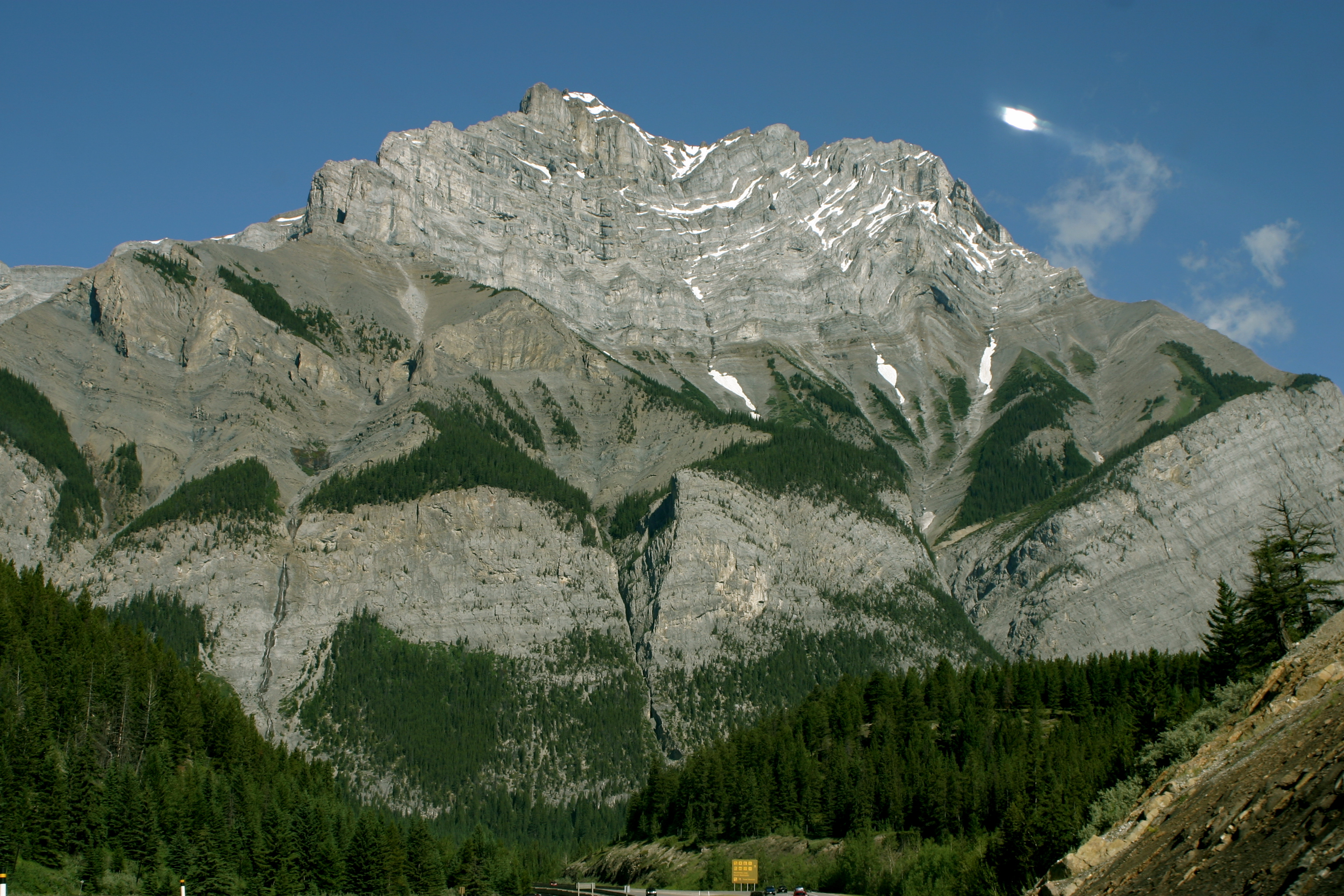The Canadian Rockies Going Into Banff National Park