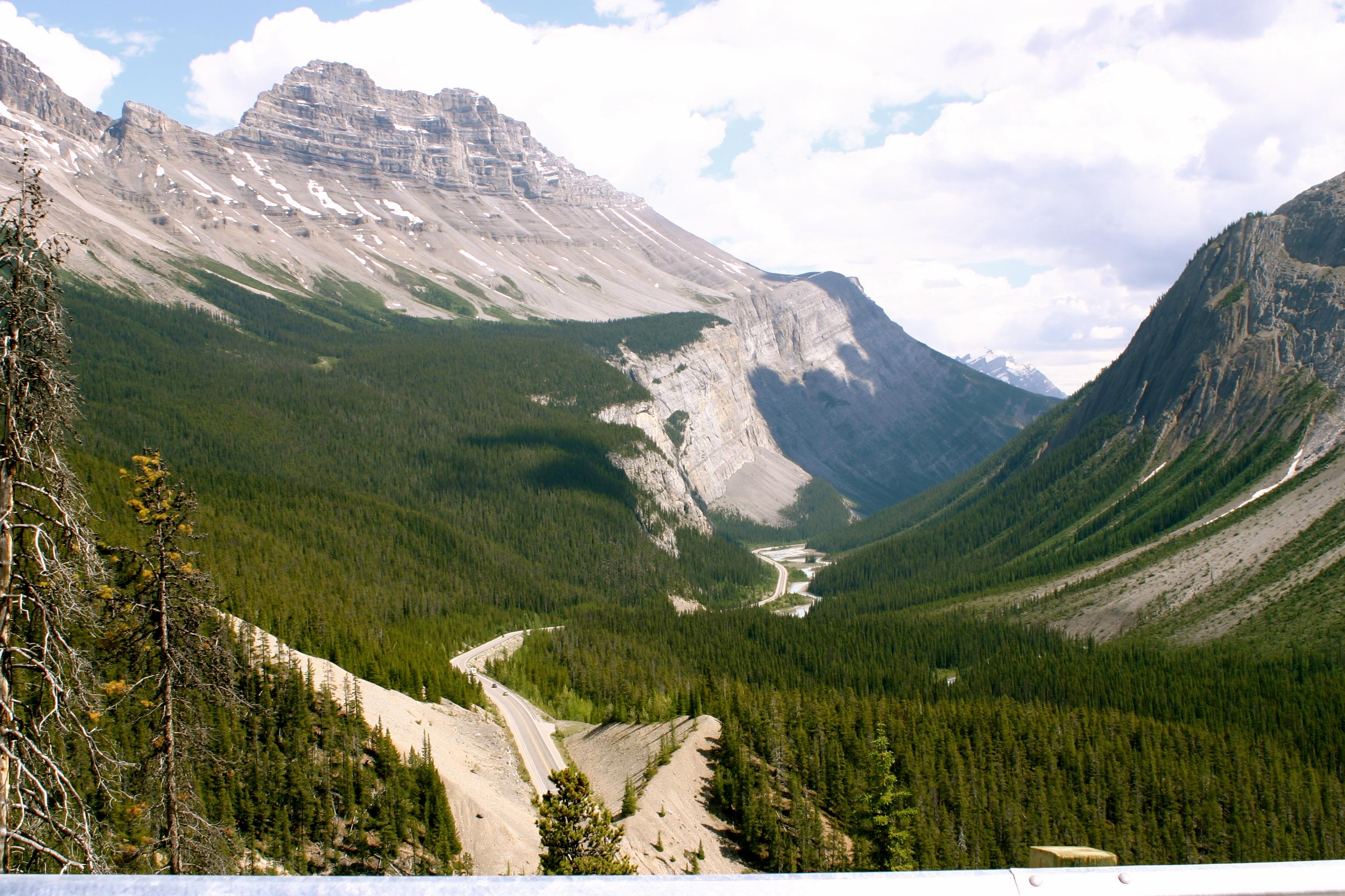 Crossing Into Jasper National Park