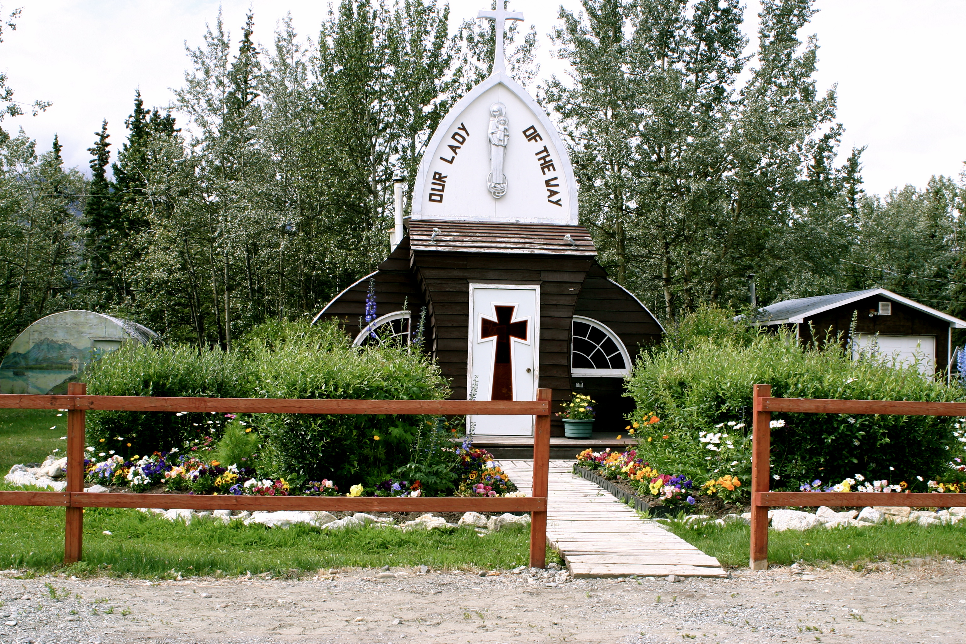 Our Lady of the Way Church Along the Alaska Highway