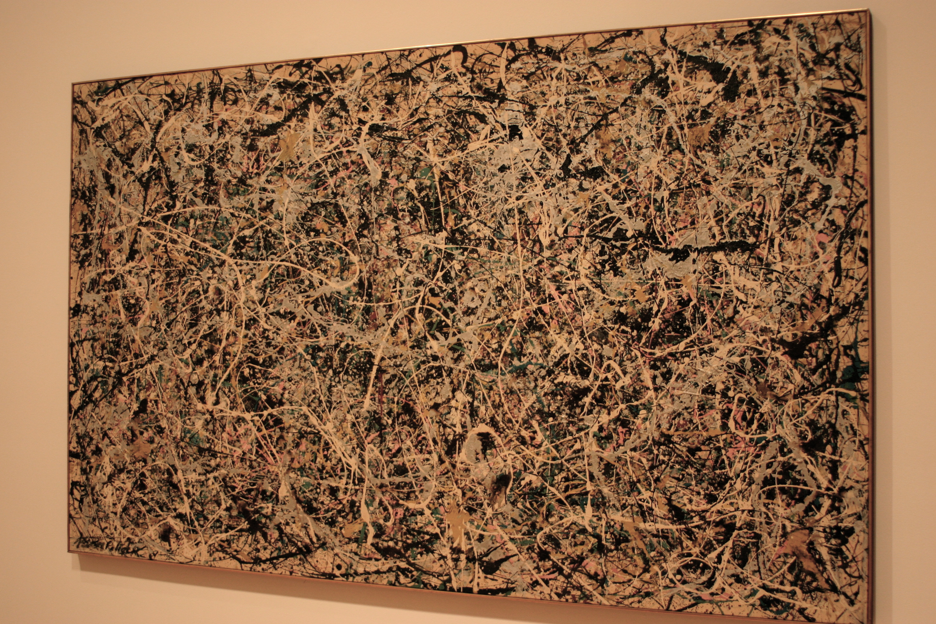 My first Pollock at the Museum of Contemporary Art (MoCA)