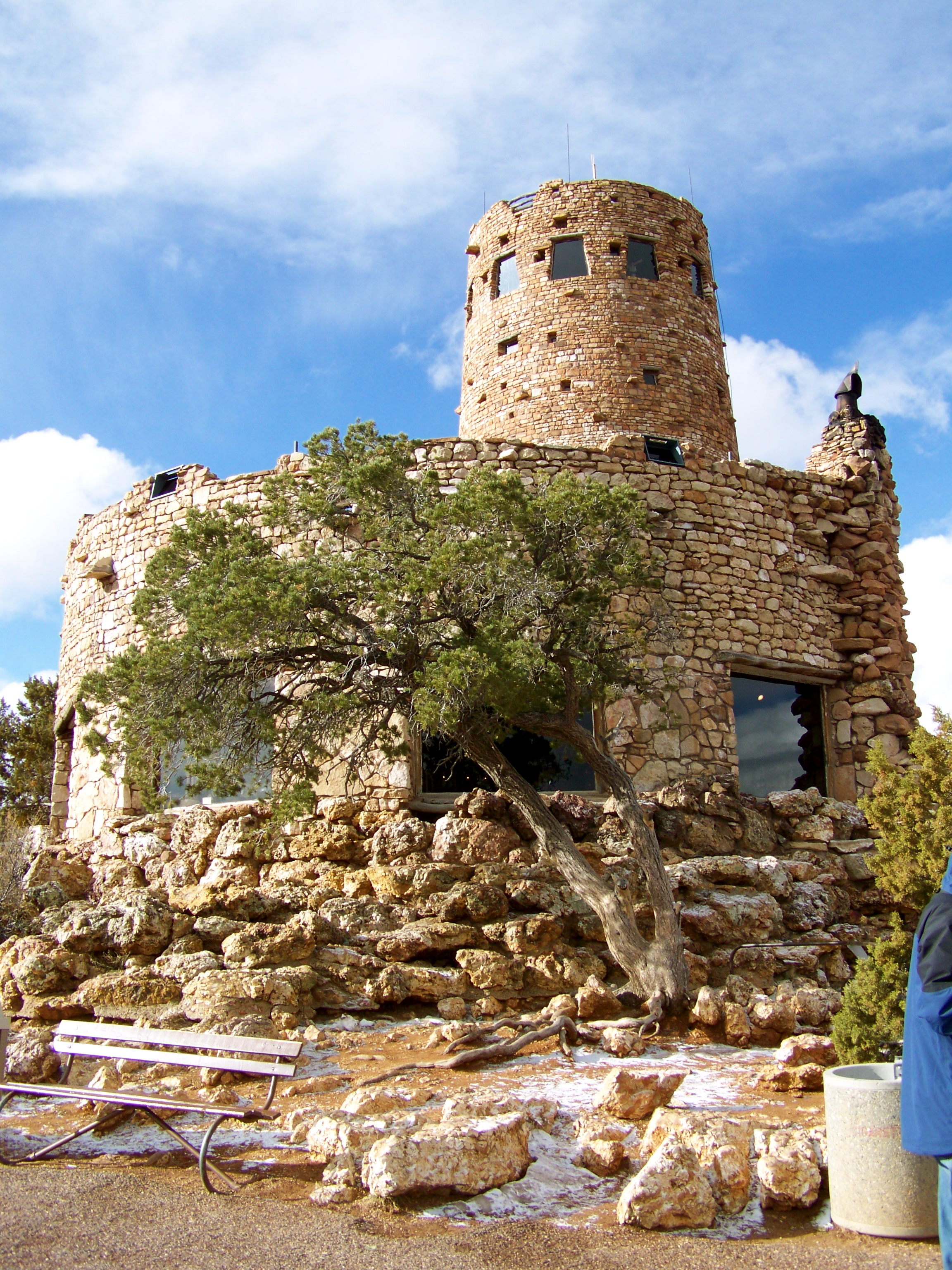 The Grand Canyon Watchtower- Notice that blue sky...