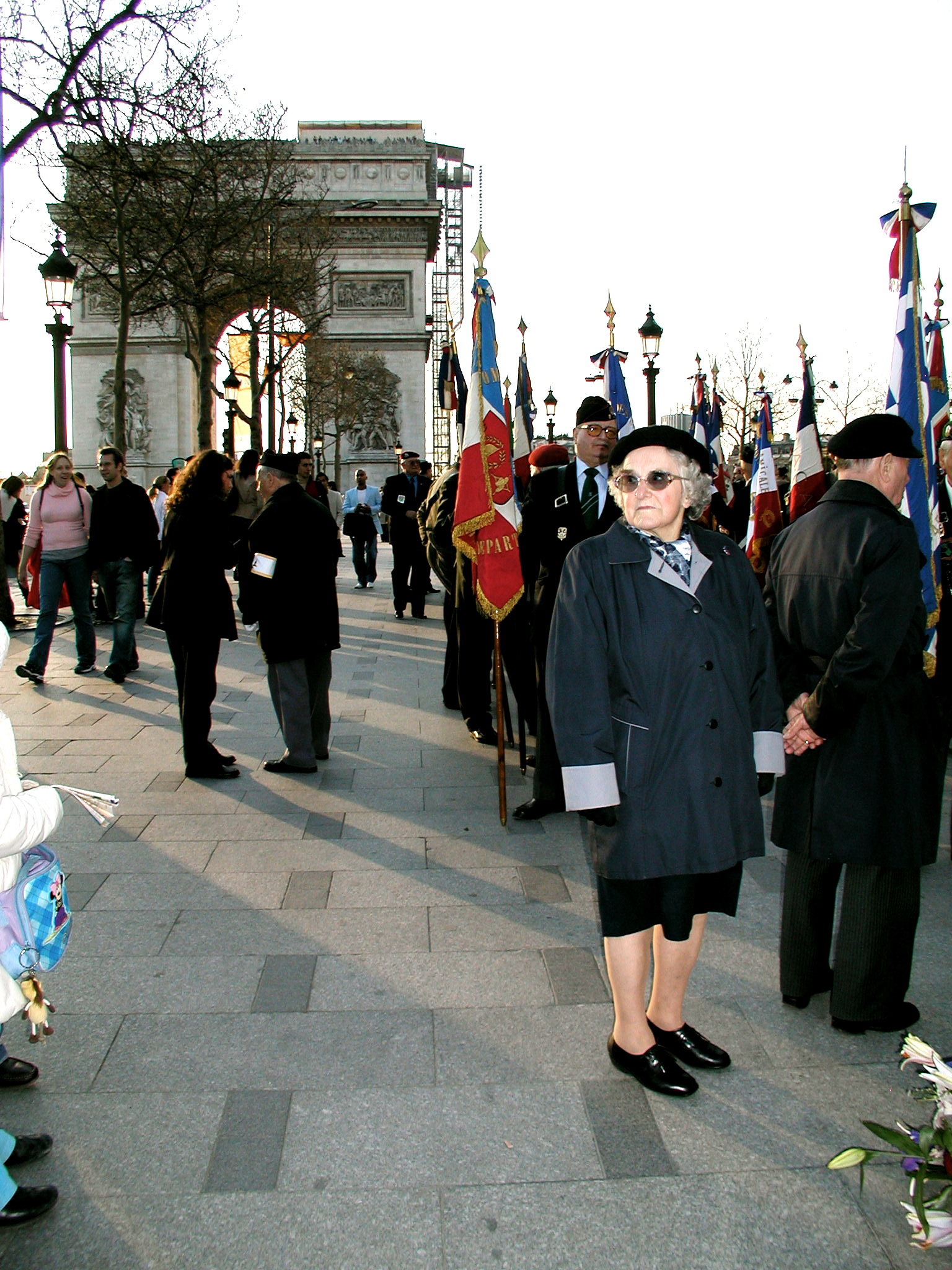 Cute little French Lady by the Arc de Triomphe