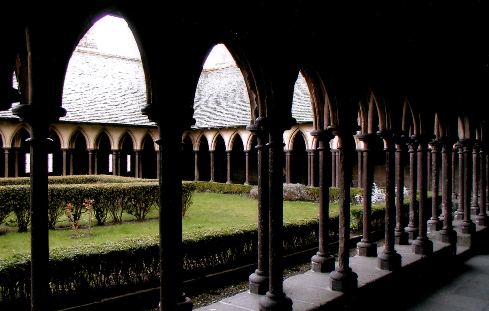 The Courtyard of Mont Saint-Michel.