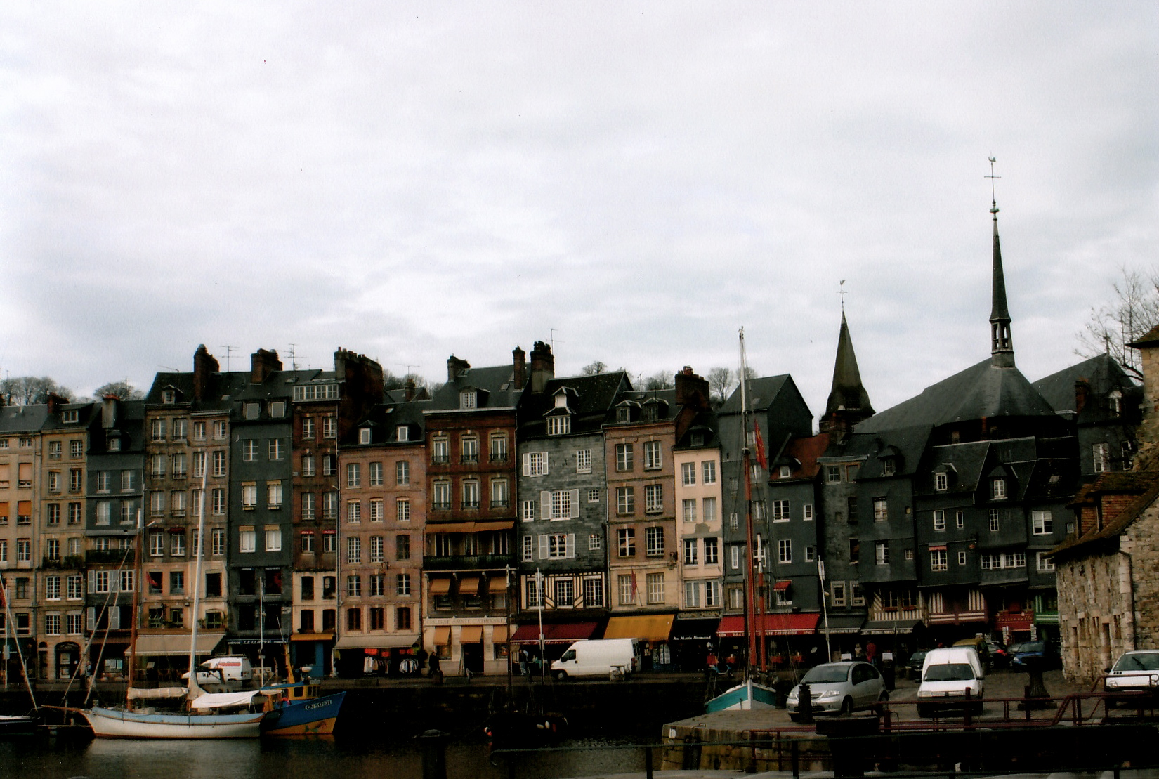 The Quay and Amazing Pastel Buidings in Honfleur.