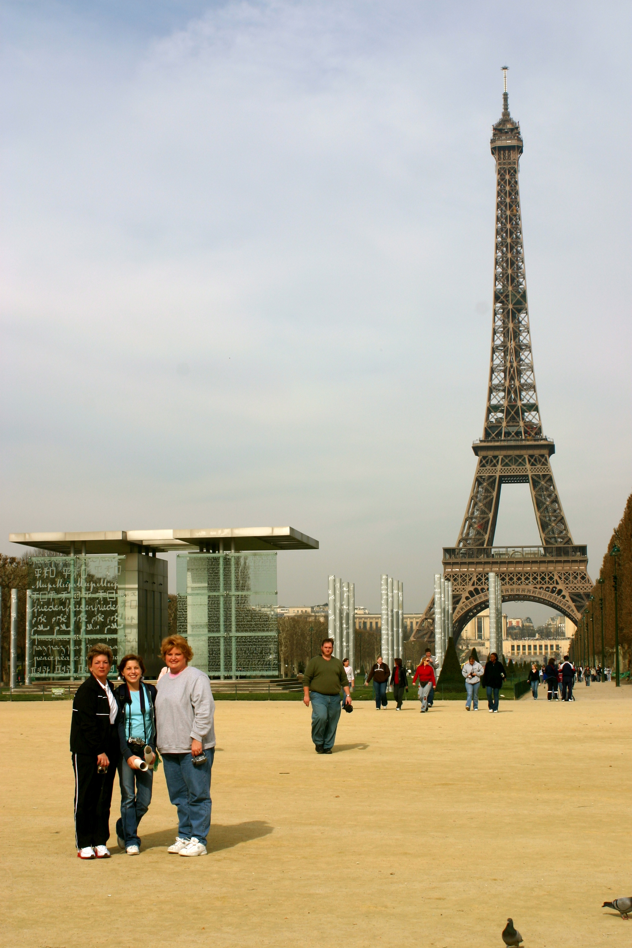 My mom, grandma and me at the Peace Memorial in front of the Eiffel Tower