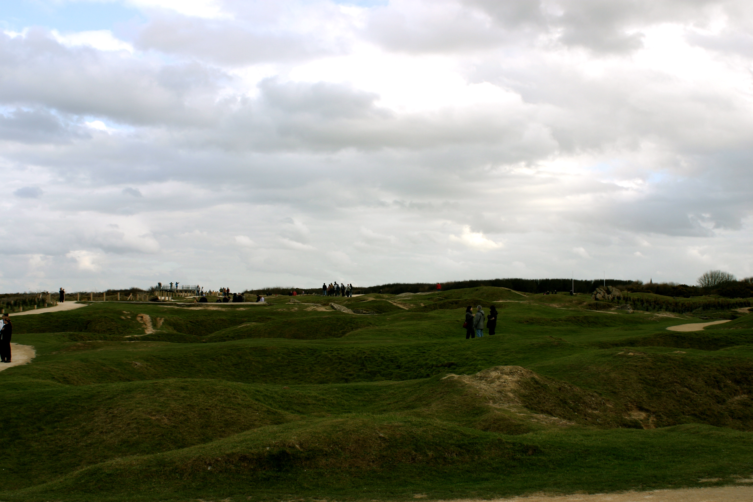 Bomb Craters on Omaha Beach.