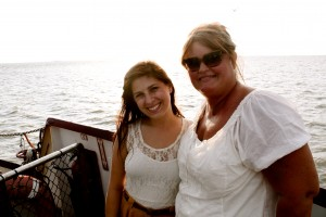 My Mom and Me on the Ferry