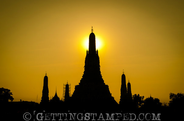 Hannah AdamBangkok Thailand - Wat Arun - Getting Stamped-1